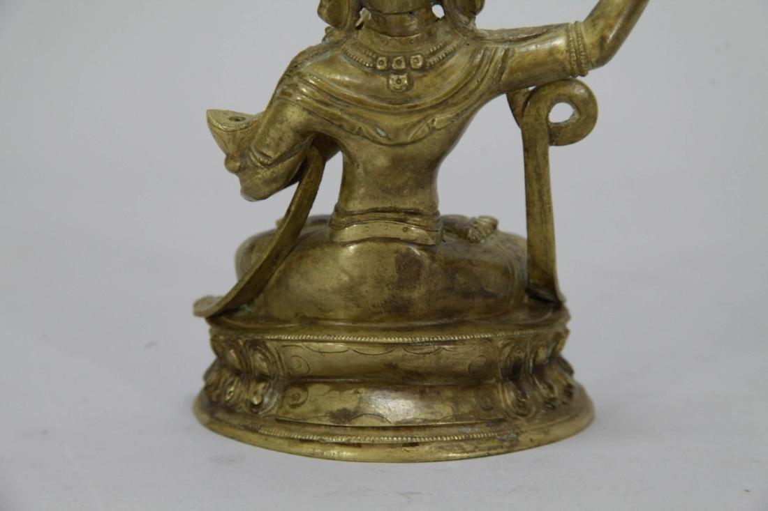 Chinese Gilt Bronze Seating Buddha - 7