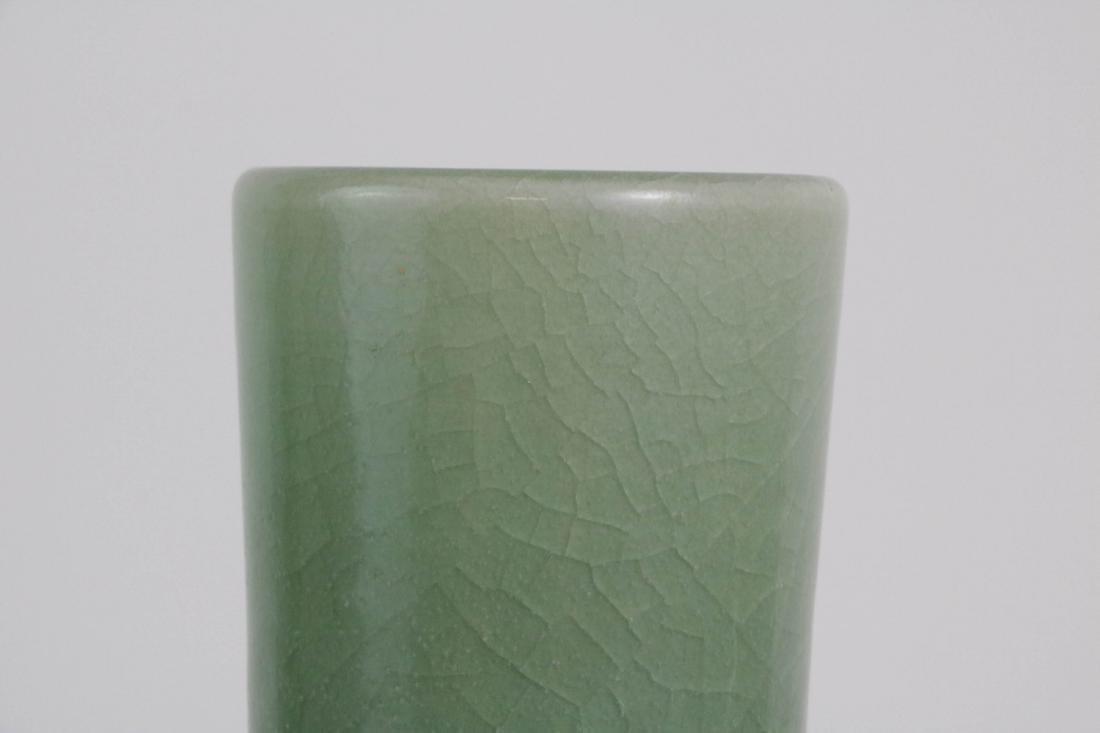 Chinese Green Glazed Porcelain Vase - 3