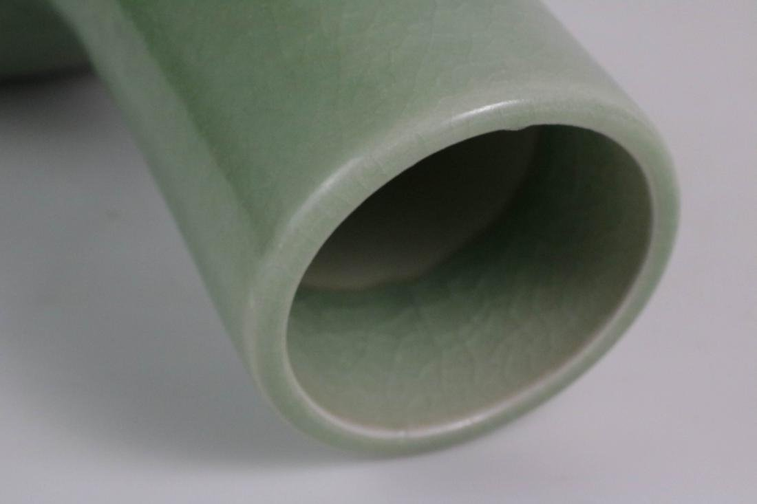 Chinese Green Glazed Porcelain Vase - 5