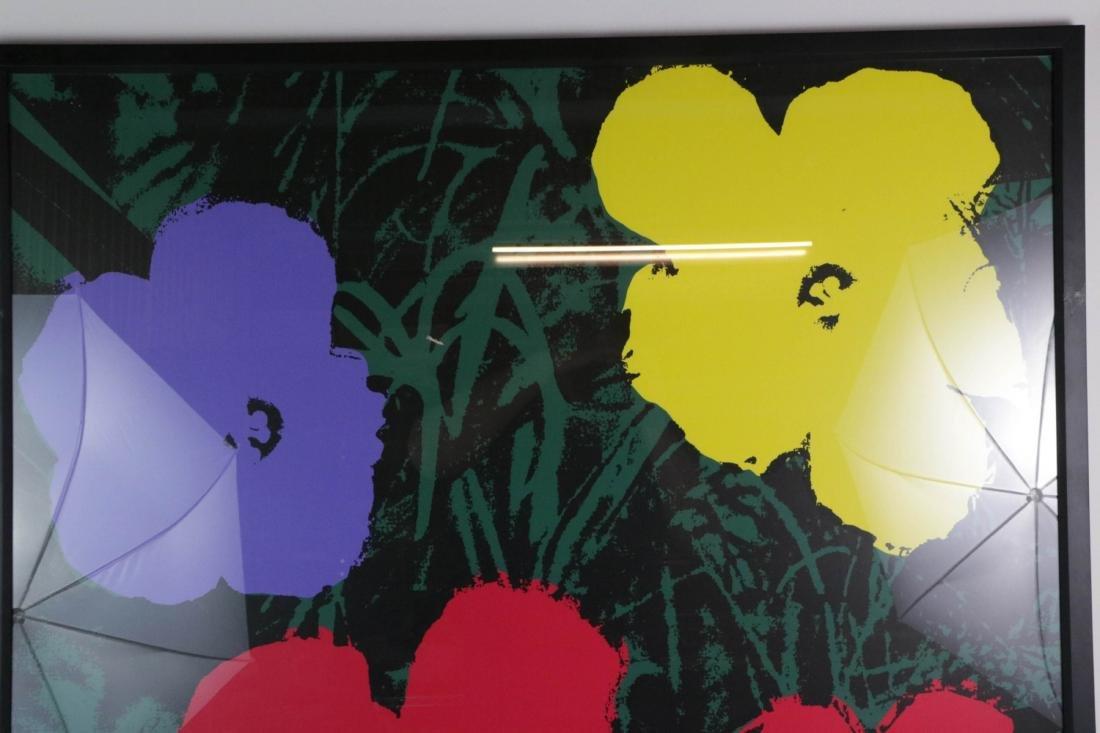 Andy Warhol Signed Silkscreen Print of Flower - 2