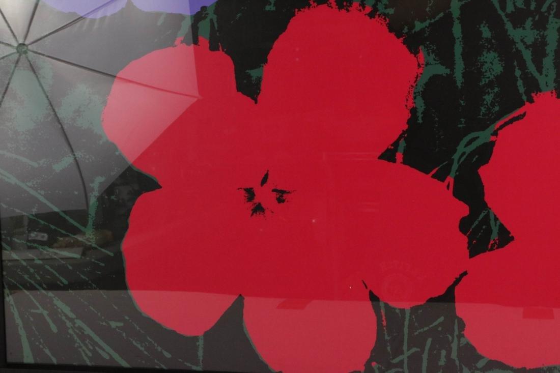 Andy Warhol Signed Silkscreen Print of Flower - 3