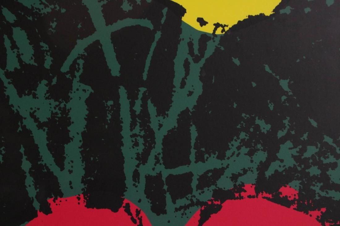 Andy Warhol Signed Silkscreen Print of Flower - 4