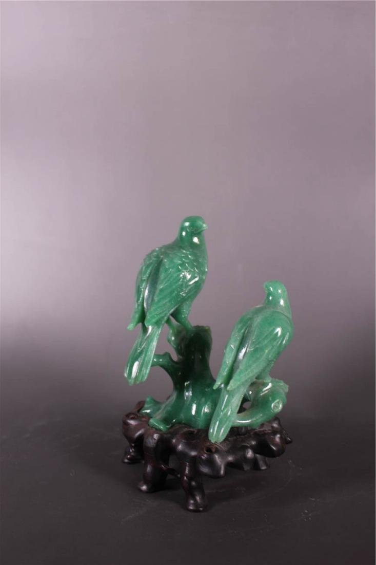 Chinese Hardstone Carving of Two Birds - 3