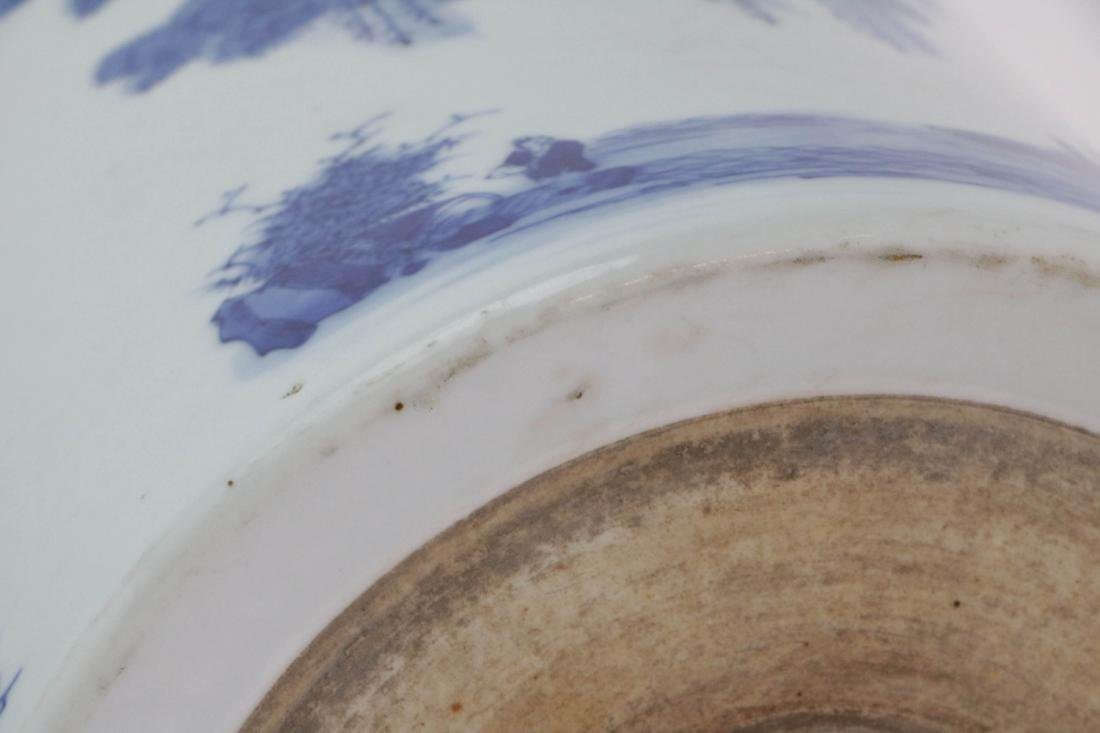 Chinese Blue and White Brush pot - 9