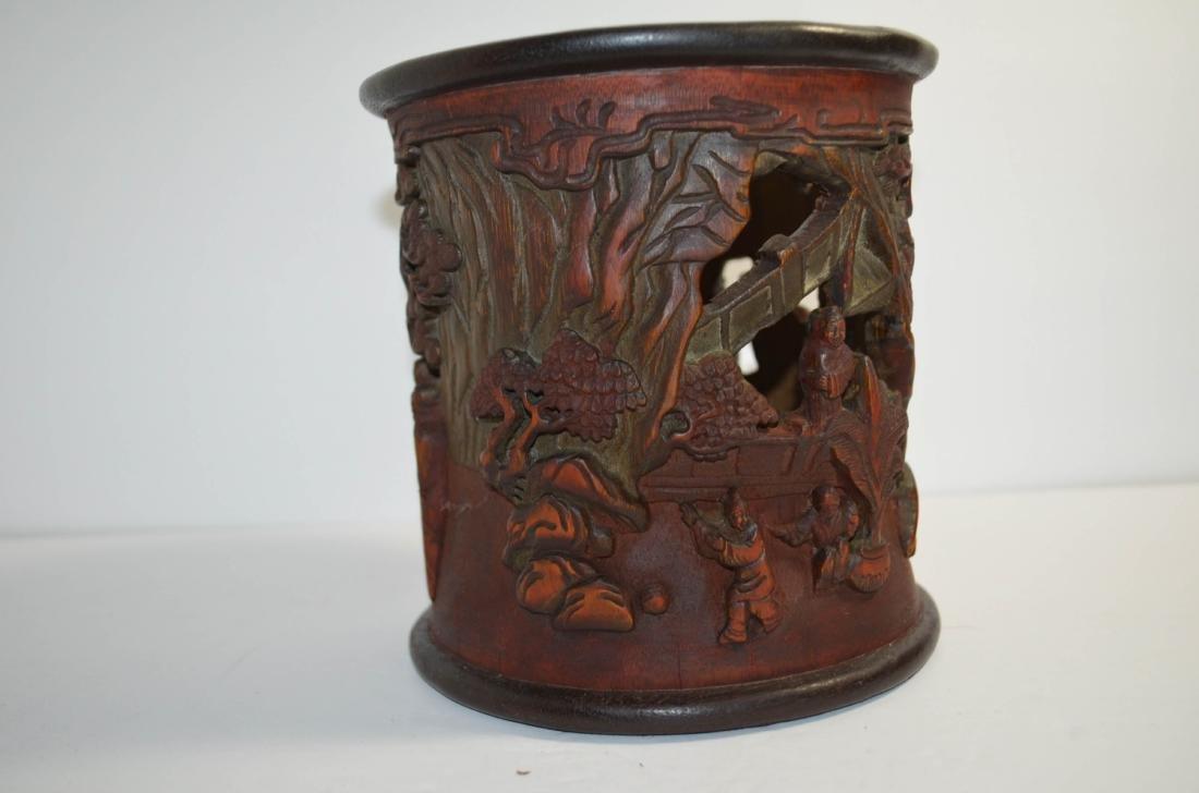 Chinese antique Bamboo Brush Pot