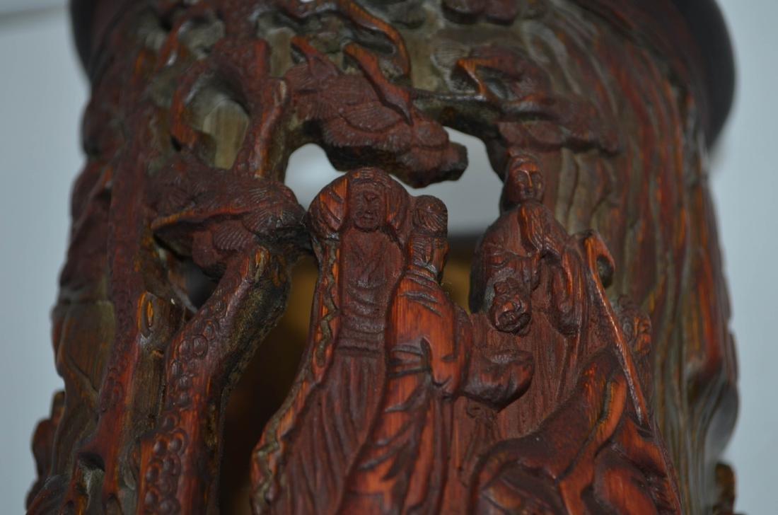 Chinese antique Bamboo Brush Pot - 7