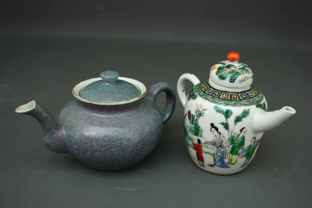 166: Two Chinese Porcelain Teapots