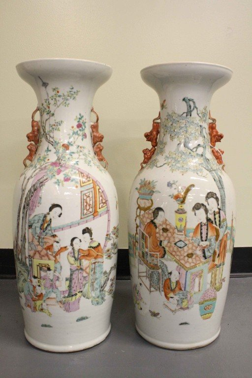 172: Pair of 19th Century Vase