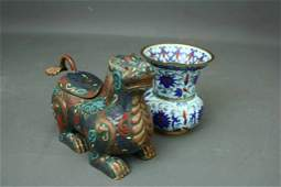 298 Group of two Chinese cloisonne