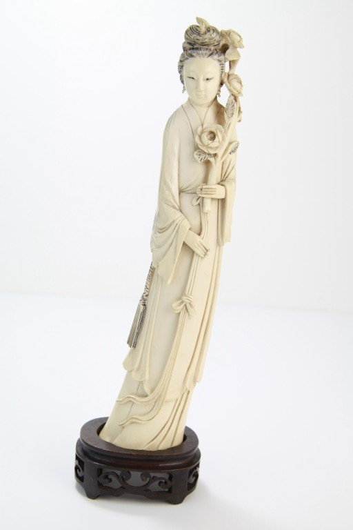 13: Chinese Carved Ivory Lady