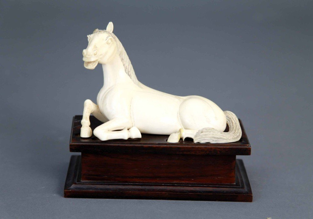 20: Chinese Ivory Horse on Base