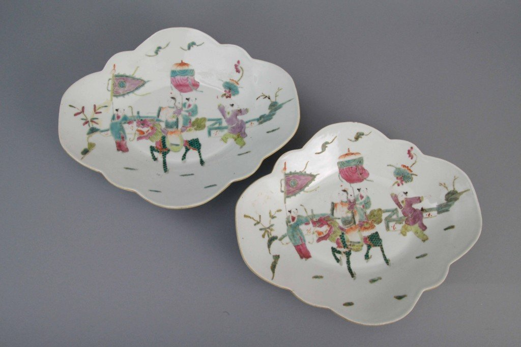 20: Pr. Early Chinese Scalloped Porcelain Bowls