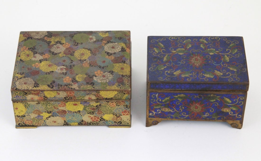 21: 2 Pieces of Cloisonne  Jewelry Box