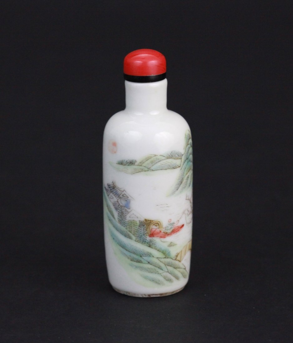 1: 19th Century Chinese Famille Rose Snuff Bottle