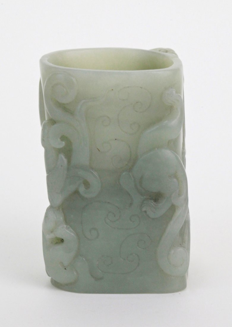 15: Chinese Celadon Jade Small Bitong