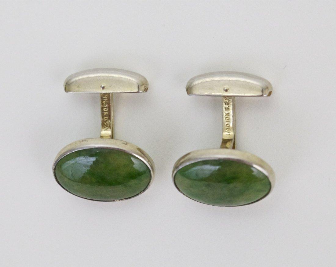18: Pair of Chinese Jadeite Cufflinks