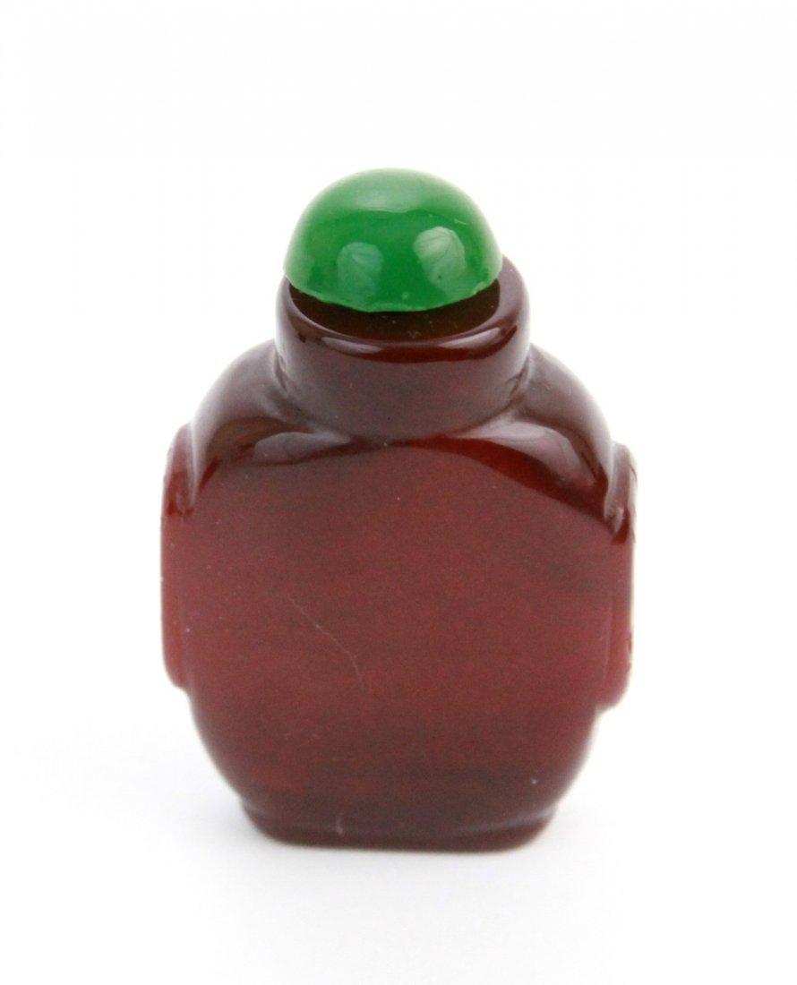 11: Chinese Amber Snuff Bottle
