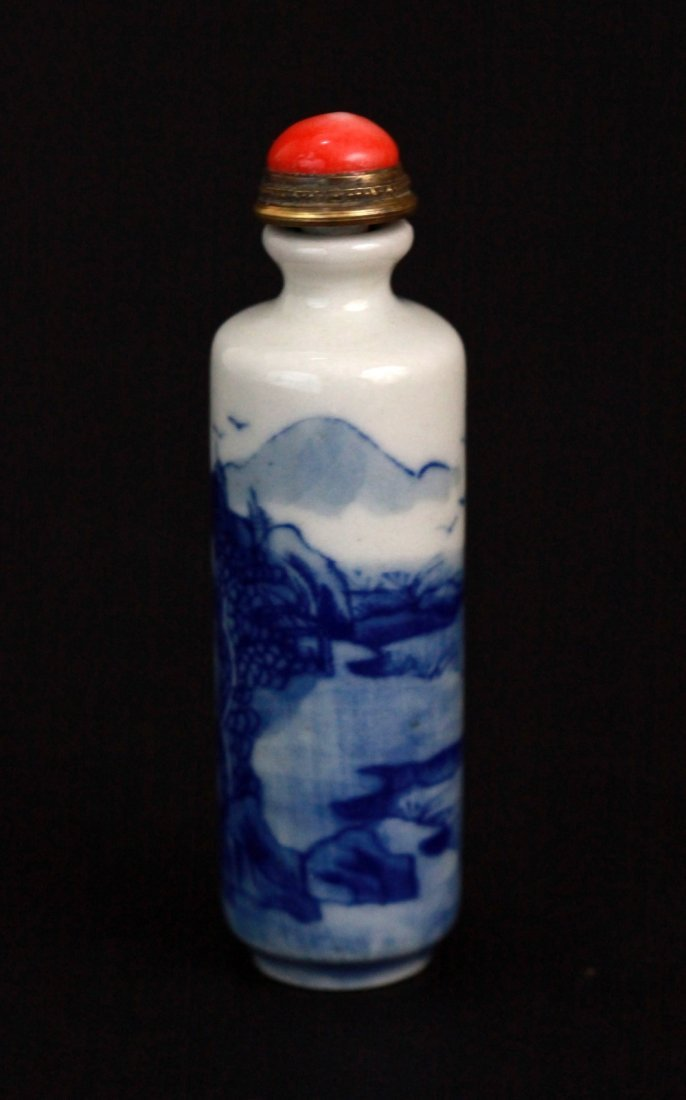 12: Chinese Blue and White Snuff Bottle