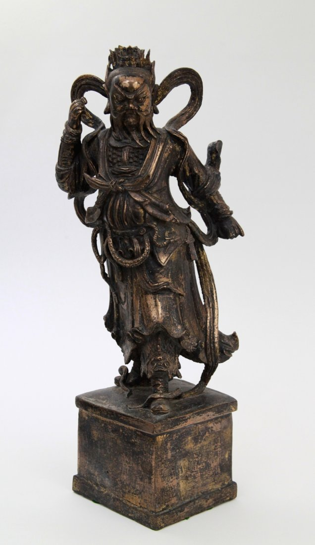 88: Large Chinese Ming Dynasty Bronze General