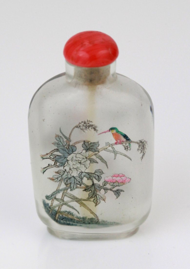 20: Chinese Glass Snuff Bottle with Inside Painting