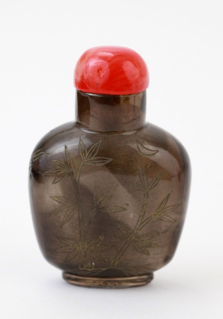 21: Chinese Smoking Crystal Snuff Bottle