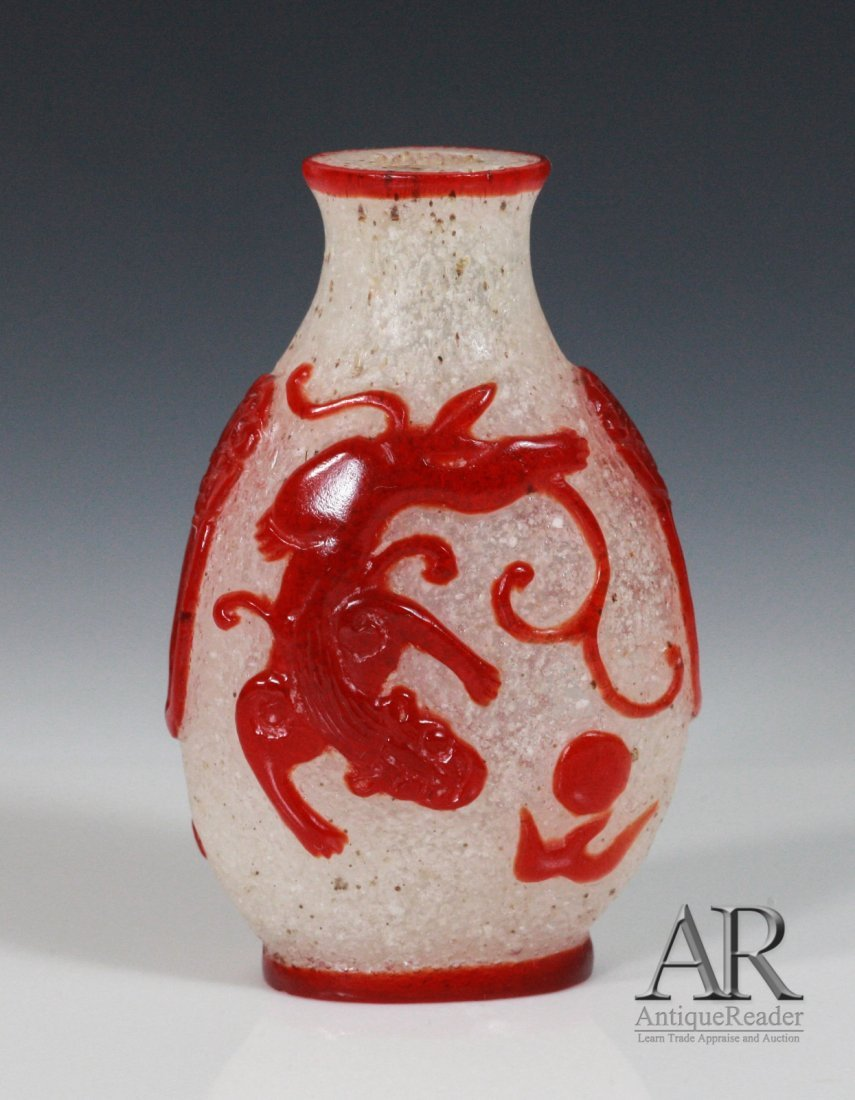 19th C Chinese Glass Snuff Bottle
