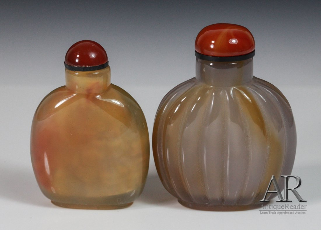 11: Two Chinese Agate Snuff Bottles