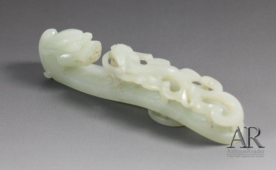 6: Chinese Jade carved Dragon Hook Belt