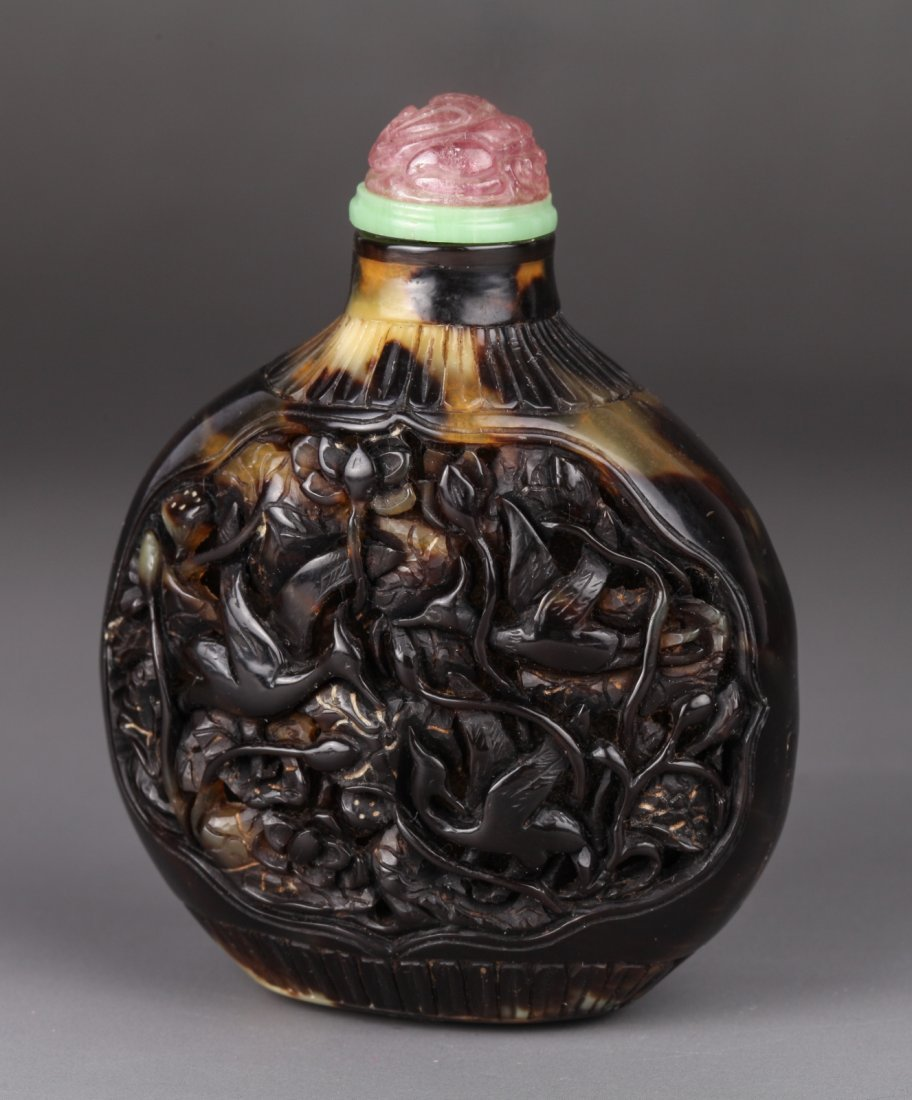19th-20th C. Chinese Tortoise Shell Snuff Bottle