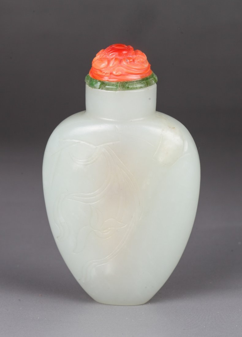 19th Century Chinese Jade Snuff Bottle