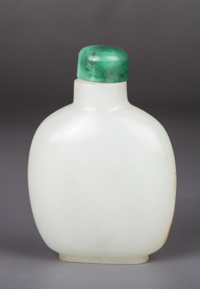19th Century Chinese White Jade Snuff Bottle