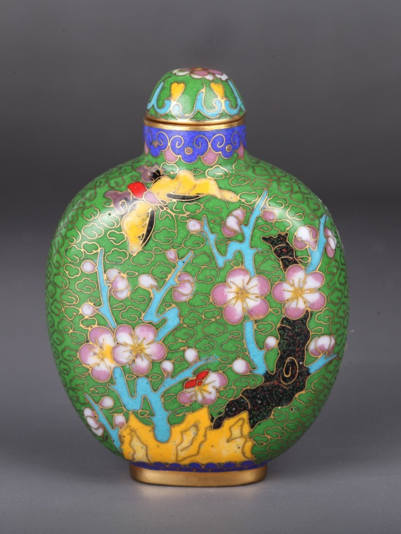 19th-20th C. Cloisonne Snuff Bottle
