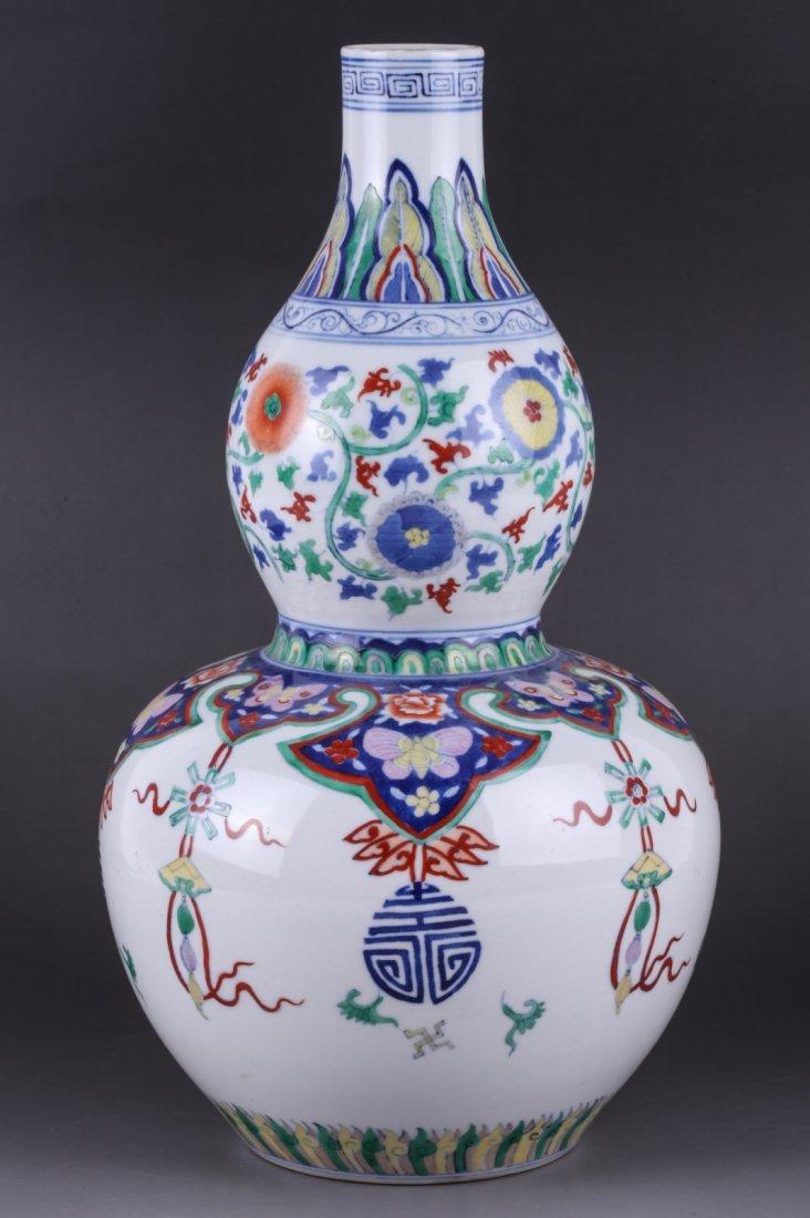 Chinese WuCai Double Ground Vase