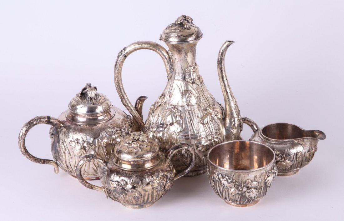Five Pieces Silver Tea Set