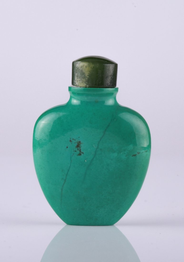 18th C. Chinese Turquoise Snuff Bottle