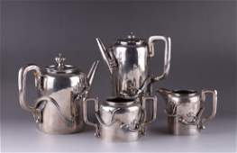 Chinese 4 Pieces Set Sterling Silver Tea Set