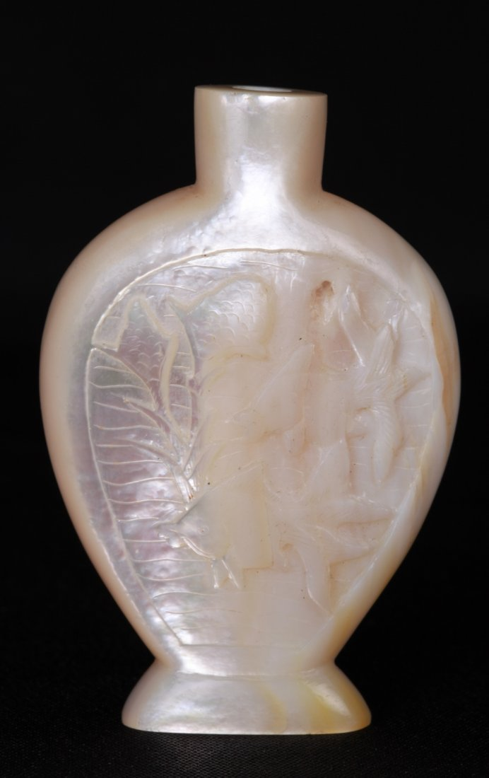 Chinese Sea Shell Snuff Bottle