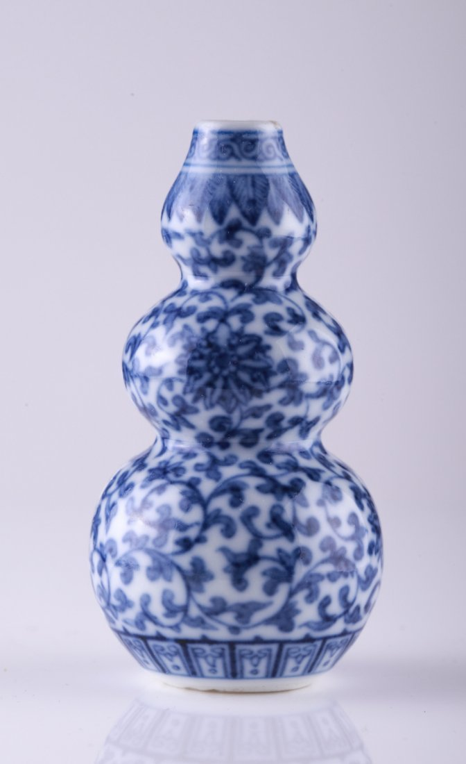 18/19th C. Blue and White Snuff Bottle