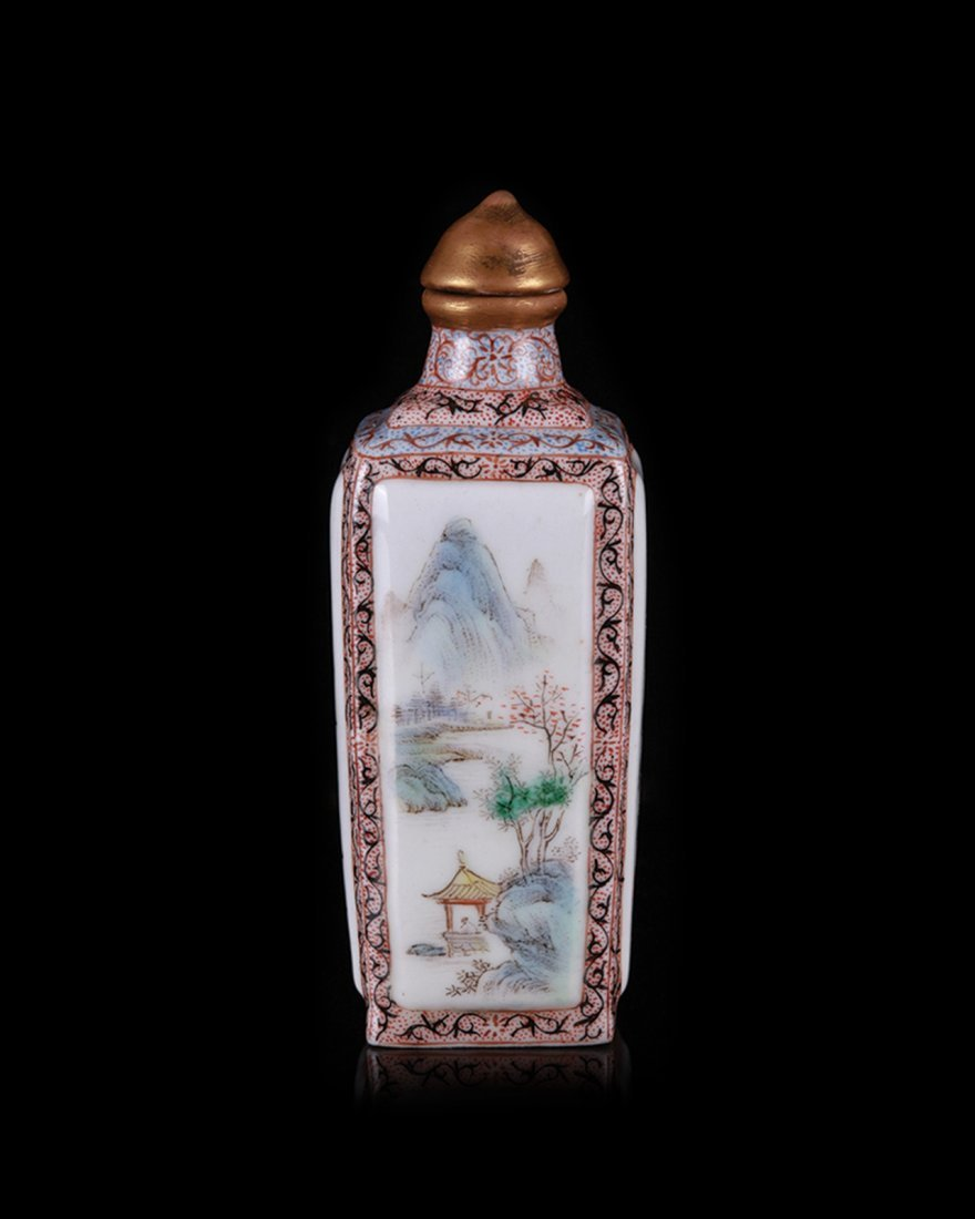 19/20th C. Chinese Famille Rose Snuff Bottle