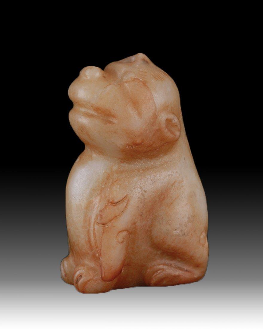 Ming Dynasty Jade Carved Beast