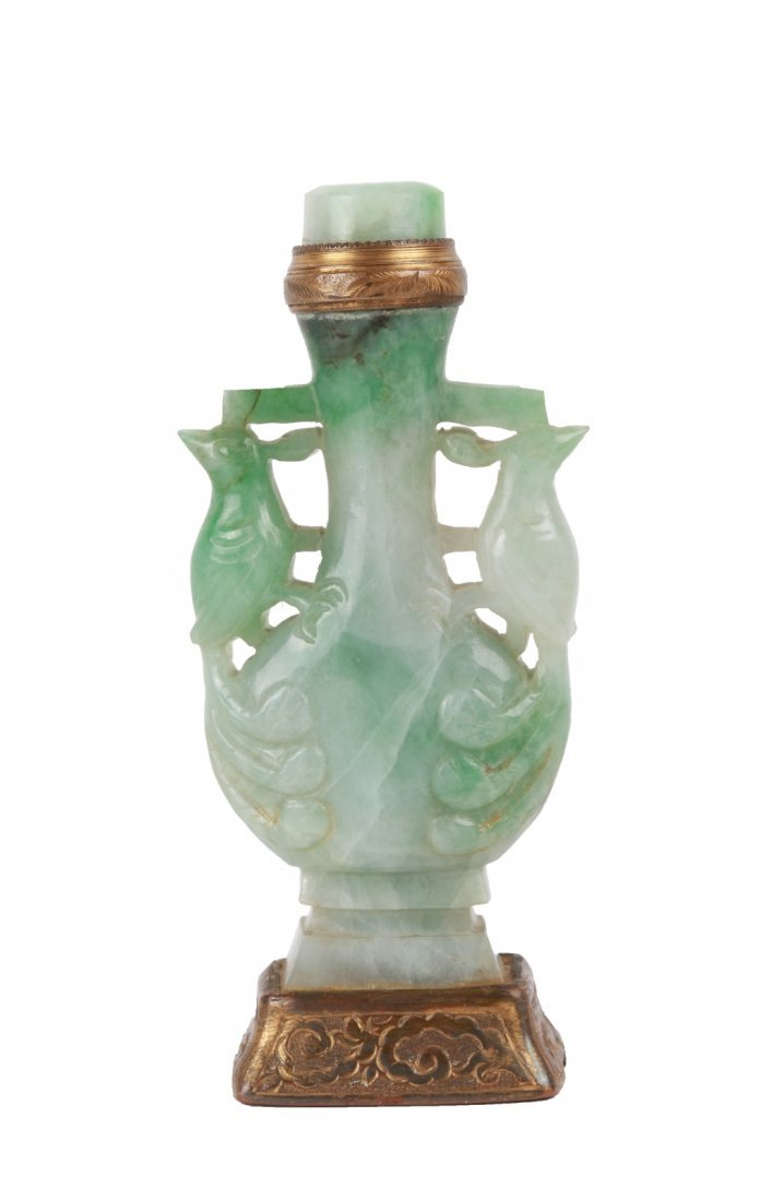 19th C. Chinese Jadeite Carved Snuff Bottle
