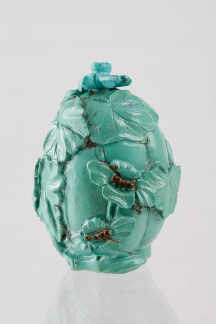 Chinese Turquoise Carved Snuff Bottle
