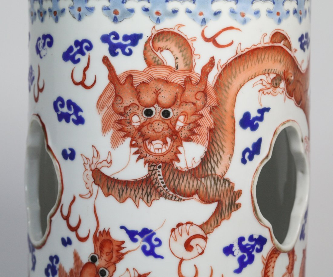 Chinese Porcelain Hat Stand with Tongzhi Marks - 4