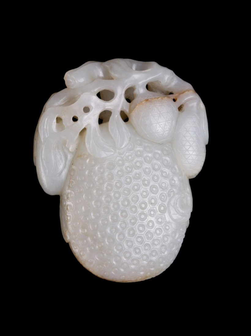 19th C. Chinese Jade Carved Fruit