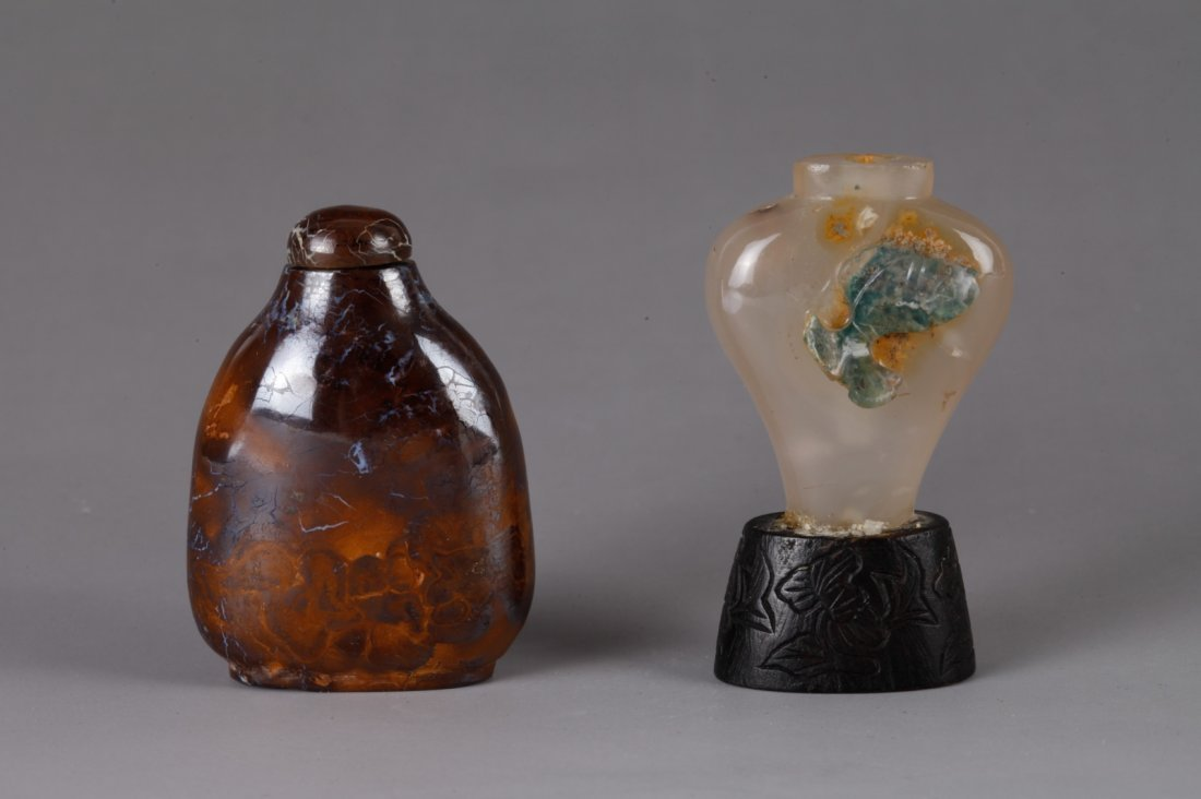 2 Pieces Chinese Stone Snuff Bottles