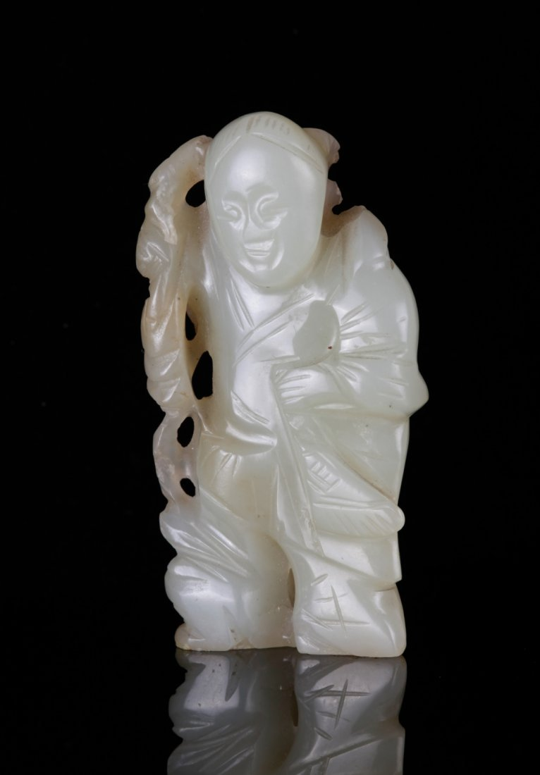 19th C. Chinese Jade Carved a Boy