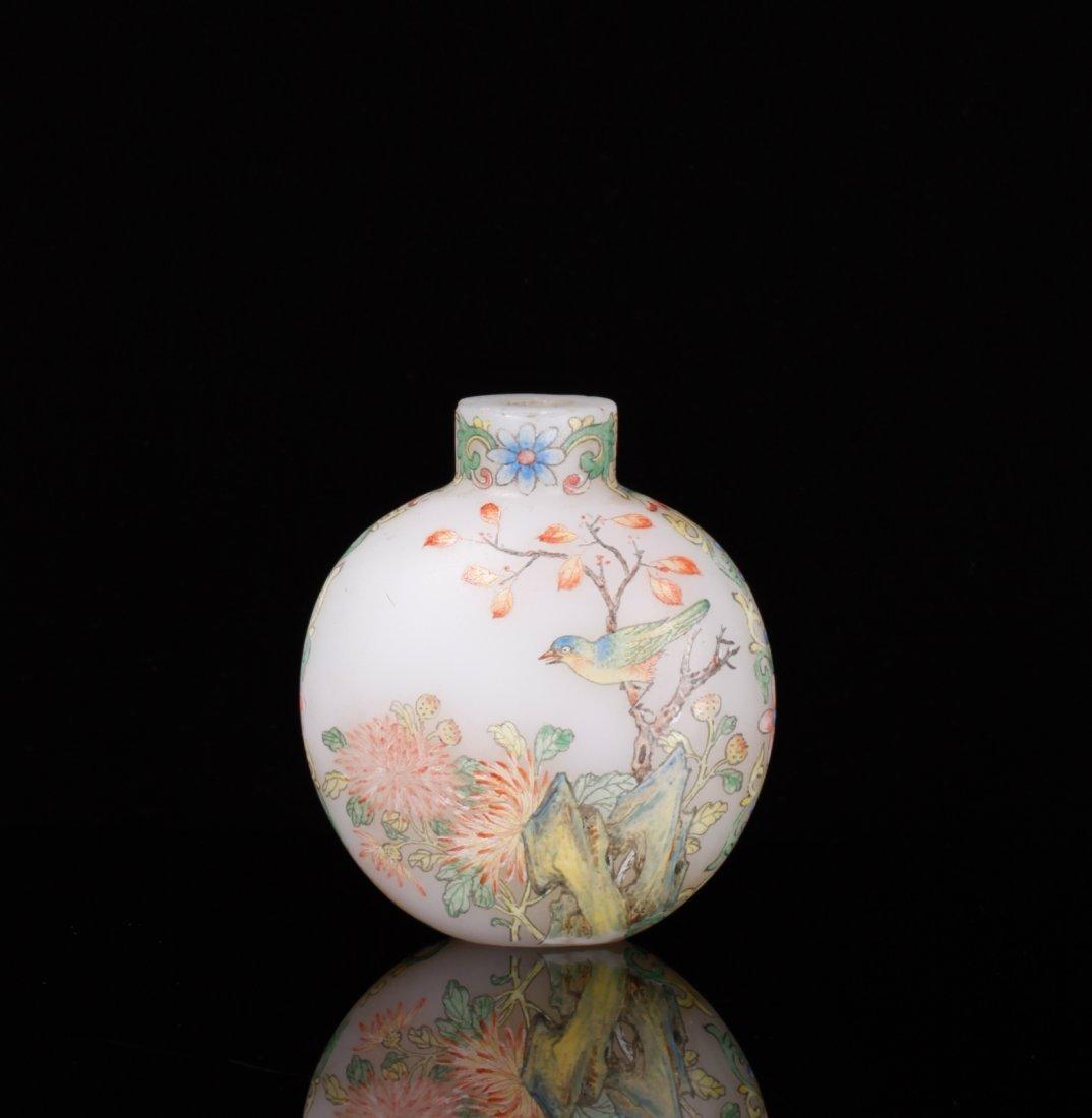 Qing Dynasty Enamel Painted Glass Snuff Bottle