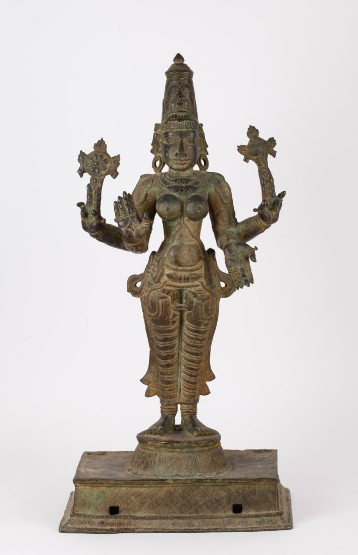 15th C. Indian Bronze Figure of Prithvi Devi