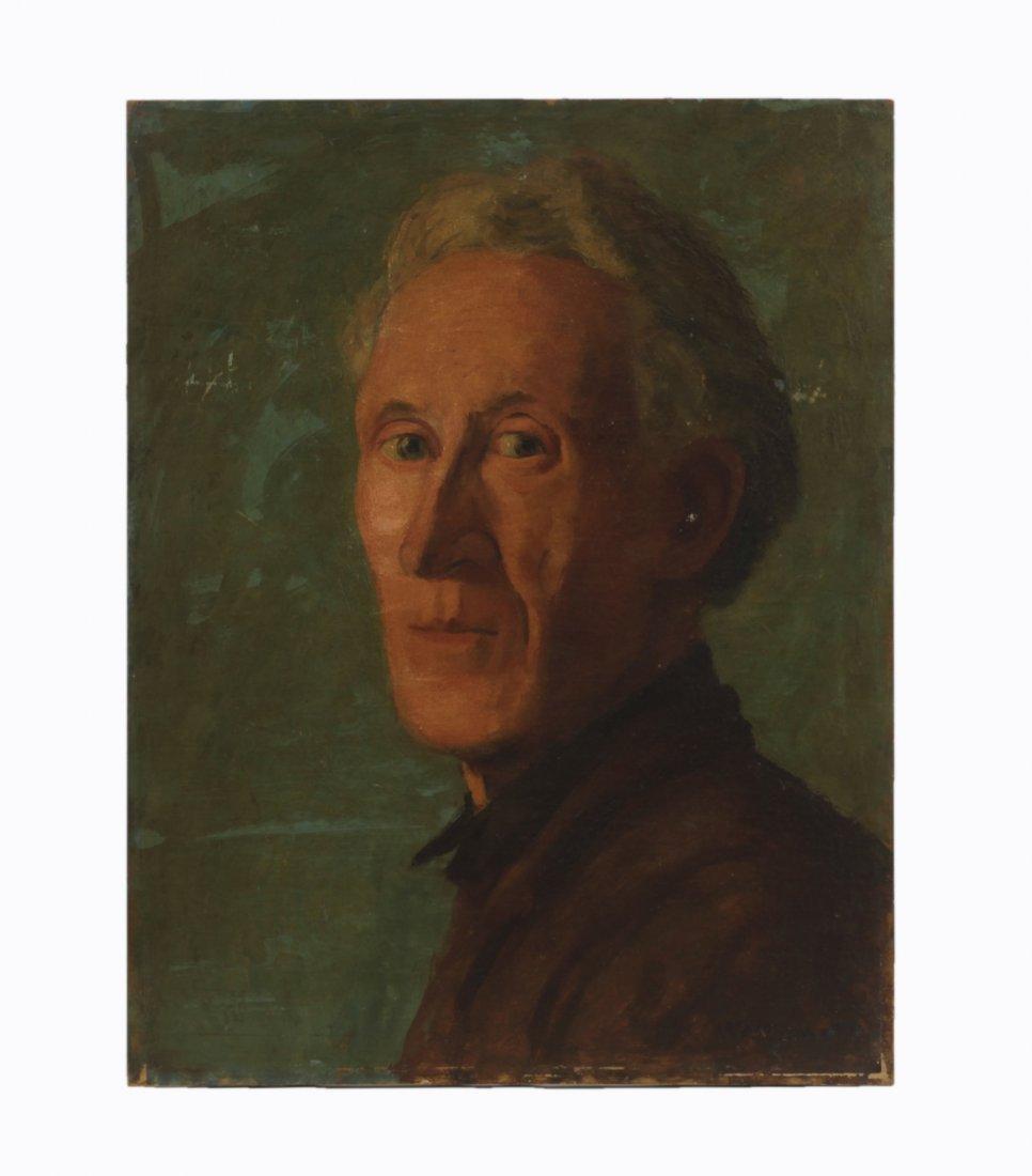 1950- Oil on Panel- Self Portrait of Man