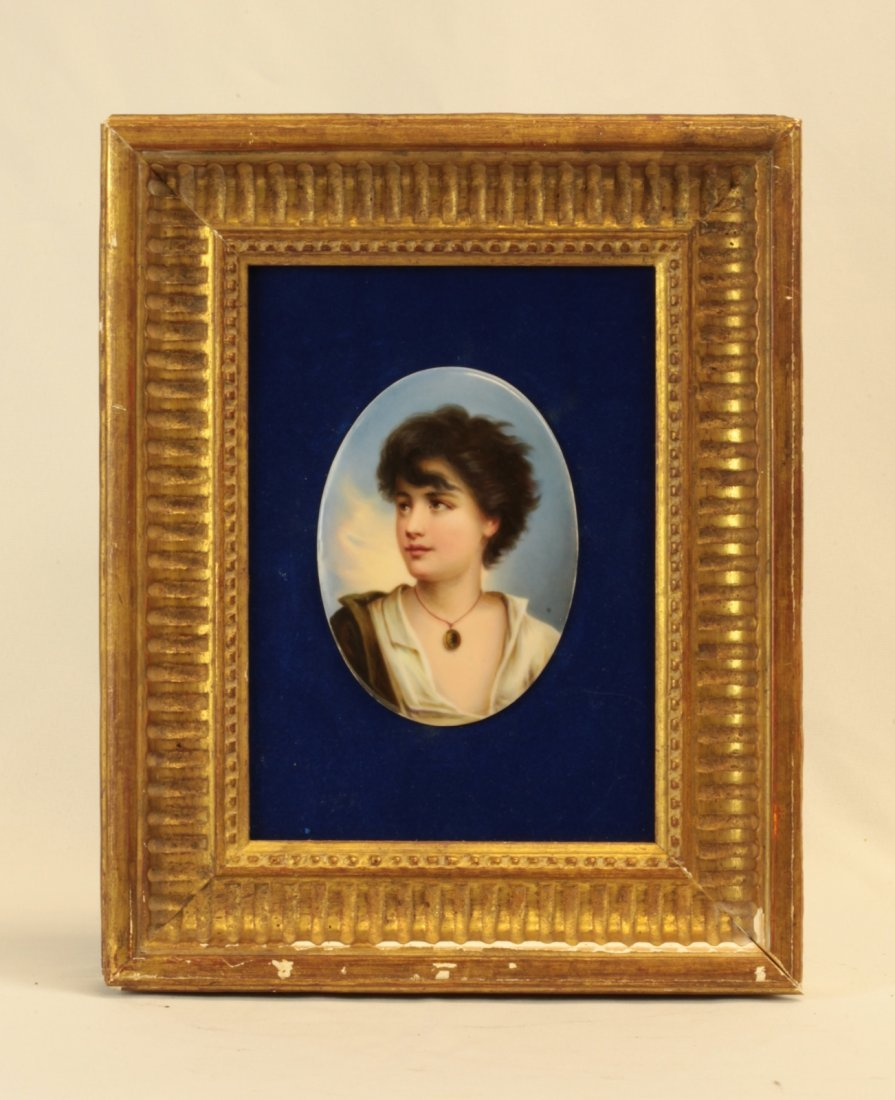 19th C. Oval Portrait of a Young Woman